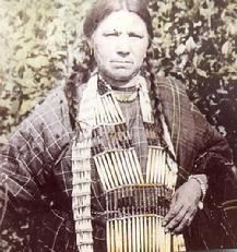 Early 1900's photo of a Chippewa woman near Crying Hill in eastern Mandan North Dakota